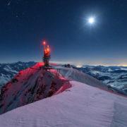 Mondnacht auf dem Titlis am 16. Februar 2013.