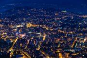 Lugano, aufgenommen ab dem Monte Bré am 8. Juni 2013.